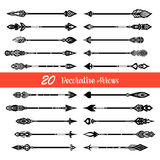 Hand Drawn Doodle Arrows Set royalty free illustration