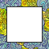 Hand drawn doodle art frame Royalty Free Stock Images