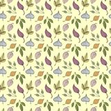 Hand-drawn doodle autumn seamless pattern. Hand-drawn doodle autumn leaves seamless pattern vector illustration