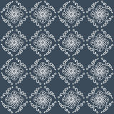 Hand-drawn doodle background. Hand-drawn doodle floral seamless pattern.Vector illustration Stock Photos