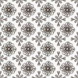Hand-drawn doodle background. Hand-drawn doodle floral seamless pattern. Wallpaper background.Vector illustration Royalty Free Stock Photography