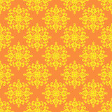 Hand-drawn doodle background. Hand-drawn doodle floral seamless pattern.Warm summer background.Vector illustration Royalty Free Stock Photos