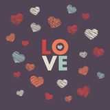 Hand-drawn doodle background. With Love Royalty Free Stock Image