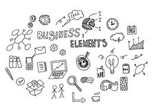 Hand drawn doodle of business element. Vector illustration.  Royalty Free Stock Images