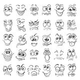 Hand drawn doodle cartoon faces emotion set Stock Photo