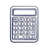Sketch retro style vector illustration of a calculator. Hand drawn doodle cartoon vector illustration vector illustration