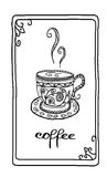 Hand drawn doodle coffee cup Royalty Free Stock Photo
