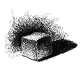 Hand drawn doodle cube Royalty Free Stock Images