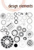 Hand drawn doodle design element circles ornament Stock Image