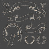 Hand Drawn Doodle Design Elements. Decorative Royalty Free Stock Photo