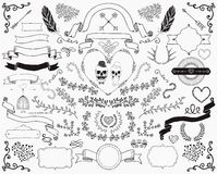 Hand-Drawn Doodle Design Elements Stock Images