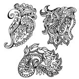 Hand drawn doodle element  in vector. Ethnic zentangle design. B Stock Images