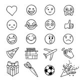 Hand drawn doodle emoji Stock Photos