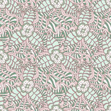 Hand-drawn doodle floral background. Hand drawn floral doodle seamless pattern.Wallpaper background.Vector illustration Stock Image