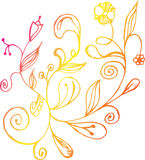 Hand drawn doodle floral background Royalty Free Stock Photo