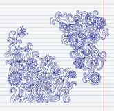 Hand-drawn doodle flower set Stock Photography