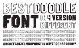 Hand Drawn Doodle Font Set Stock Image