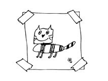 Hand Drawn Doodle Frame Royalty Free Stock Image