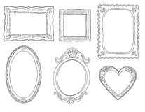 Hand-drawn doodle frames Stock Images