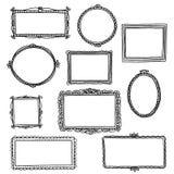 Hand drawn doodle frames Stock Photos