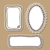 Hand drawn doodle frames Royalty Free Stock Image
