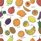 Hand drawn doodle Fruits seamless pattern. Royalty Free Stock Photo