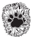Hand drawn doodle Funny Dogs Set Royalty Free Stock Images