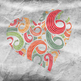Hand-drawn doodle heart Royalty Free Stock Images