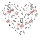 Hand-drawn doodle heart. Hand-drawn doodle shaped heart vector illustration