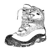 Hiking boot. Hand drawn doodle hiking boot vector Stock Photo
