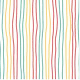 Hand drawn horizontal stripe pattern vintage soft pastel colour seamless stock illustration