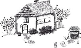 Hand drawn doodle house Stock Images