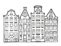 Hand drawn doodle houses. Stock Images
