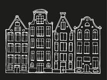 Hand drawn doodle houses. Stock Photography