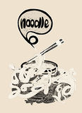 Hand drawn doodle Noodle background Stock Photos