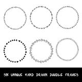 Hand drawn doodle ornamental frames. Vector Stock Photo