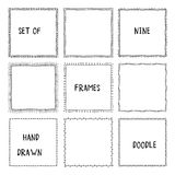 Hand drawn doodle ornamental frames. Vector Stock Photos