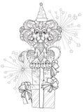 Hand drawn doodle outline lion Stock Photos