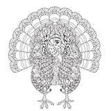 Hand drawn doodle outline turkey Stock Photos