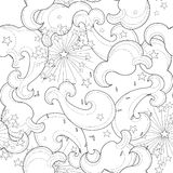 Hand drawn doodle outline umbrella Stock Photography