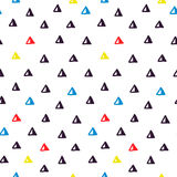 Hand drawn doodle seamless geometric pattern Stock Photos