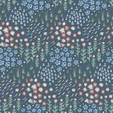 Hand drawn doodle seamless pattern background texture stock illustration