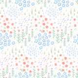 Hand drawn doodle seamless pattern background texture vector illustration