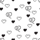 Hand-drawn doodle seamless pattern Stock Image