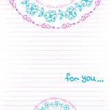 Hand-drawn doodle seamless pattern Stock Photos