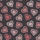 Hand drawn doodle seamless pattern of hearts Stock Image