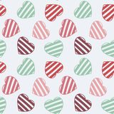 Hand drawn doodle seamless pattern of hearts Stock Photo