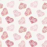 Hand drawn doodle seamless pattern of hearts Royalty Free Stock Photo