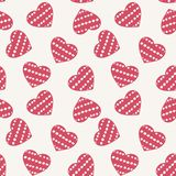 Hand drawn doodle seamless pattern of hearts Stock Images