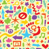 Hand drawn doodle seamless vector pattern Stock Photo
